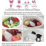 KY&cL Nettoyeur à ultrasons Machine à Laver Portable Mini Lave-Linge de Voyage, Pendule à Fruits, vêtements, Bijoux, Lunettes de Soleil, Fruits et légumes.