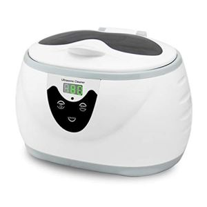 LYY Nettoyeur à ultrasons, 600ml Nettoyage Sonic Bijoux Lunettes dentiers Accueil ultrasons Bain Lave-Linge