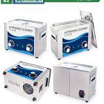 Mxmoonant Nettoyeur à ultrasons en acier inoxydable 4,5 l 180 W Chauffage à ultrasons Chauffage & minuterie pour usage professionnel et privé