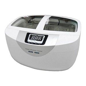 Nettoyeur à ultrasons, 2,5 litres 60W Numérique Minuteur Inoxydable Acier Paniers Bijoux Montres Dentaire Chauffage Ultrason Légume
