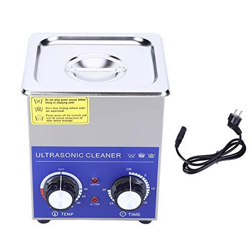 Nettoyeur à Ultrasons Professionnel, 1 Pièces en Acier inoxydable Nettoyeur à ultrasons Chauffé Machine avec panier (Variété de Tailles: 2L/ 3L/ 6L/ 10L/ 14L/ 15L/ 19L/ 22L)(2L)