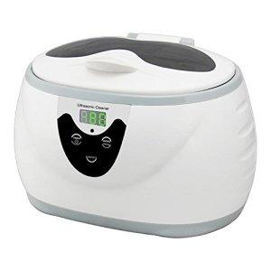 QINGXI Nettoyeur à ultrasons, 0.6L 35W 40kHz Numérique Lavage Une Baignoire Réservoir Paniers Bijoux Montres Dentaire Mini Ultrason Nettoyeur Une Baignoire