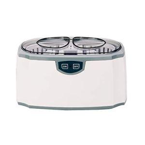 Yushu Nettoyeur à ultrasons de Bijoux, Nettoyeur à ultrasons Professionnel, Machine de Nettoyage à ultrasons portatifs for Le ménage, Lunettes Cleaner dentier, 420ml (Color : White)