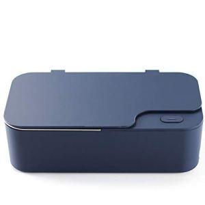 HEWXWX 2020 Nettoyeur à ultrasons, Mini, Nettoyant sonique 450 ML, Nettoyant pour Bijoux, 40 KHz, Acier Inoxydable, Ménage, pour Bijoux Lunettes en Argent Montres Outils de Tatouage,Blue