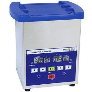 HEWXWX Nettoyeur à ultrasons 2L, enlevez la Graisse, nettoyant sonique 40KHz, stérilisation à mémoire numérique réservoir en Acier Inoxydable, ménage, pour Bijoux Lunettes Montres,2L