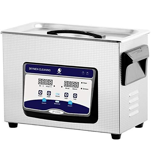 HEWXWX Nettoyeur à ultrasons 2L-30L, dégraissage, nettoyant sonique 40KHz, stérilisation, nettoyant pour Bijoux, réservoir en Acier Inoxydable, ménage, pour Bijoux Lunettes Montres,3.2L