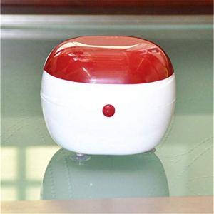 Mini Nettoyeur à ultrasons Portable pour ménager – pour Nettoyer Les Verres, Montres, bagues, Diamants, Colliers, pièces de Monnaie, rasoirs et Peignes, Outils