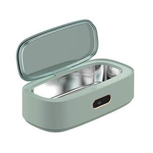 Nettoyeur à ultrasons portable 300ml, Machine de Nettoyage à ultrasons Domestique en Acier Inox, 4 réglages de Temps, pour lunettes, montres, bijoux, bagues, colliers, rasoirs, prothèse dentaire,Blanc