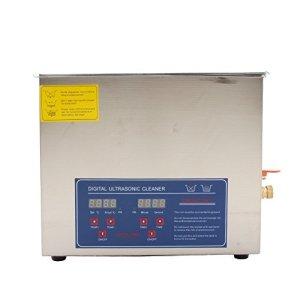 Zerone Nettoyeur à ultrasons Machine professionnelle avec nettoyeur à ultrasons et dents en acier inoxydable Réglage du compteur de temps du chauffe-eau 10L