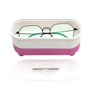 CVBN Mini Nettoyeur ultrasonique de Bijoux Nettoyeur de Lunettes électrique Nettoyeur ultrasonique, Rose