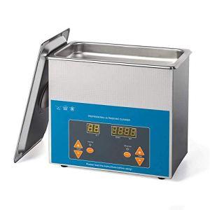 Elifano Nettoyeur à ultrasons 3 l avec chauffage et minuterie numérique (3 l).