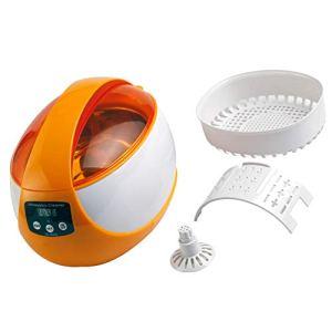 HYE Lunettes Nettoyeur à ultrasons, ménage Bijoux Nettoyeur à ultrasons, avec Fonction de dégazage Forte Force de Nettoyage Machine de Nettoyage Automatique pour Le Nettoyage des rasoirs