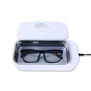VISZC Mini nettoyeur à ultrasons pour bijoux, contrôle intelligent, avec réservoir en acier inoxydable, 450 ml
