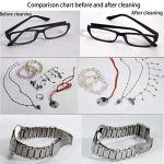 VISZC Nettoyeur à ultrasons pour bijoux, lunettes, colliers, bagues, montres, pièces de monnaie 600 ml