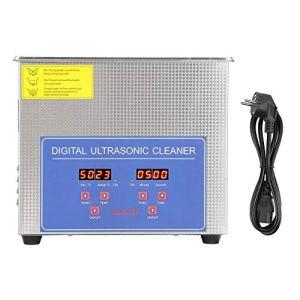 Cocoarm 3L Nettoyeur à Ultrasons Machine de Nettoyage à ultrasons Laveuse à ultrasons numérique d'acier Inoxydable Nettoyeur numérique Ultra sonique Professionnelle Prise UE 220V