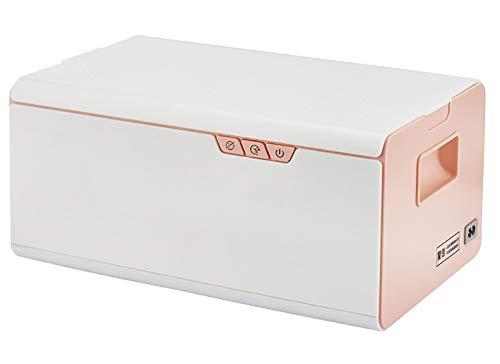 Mxmoonant Nettoyeur à ultrasons Machine de nettoyage des aliments Volume efficace de 3 L avec un panier, léger, pour le nettoyage domestique (rose)