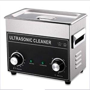 NBVCX Pièces de Machines Portable 2L 3.2L Nettoyeur à ultrasons Machine à ultrasons réglable Chauffage minuterie Nettoyage Bijoux Fausse dent Rasoir 220-240V A