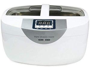 XXND 2.5L Nettoyeur à ultrasons, Nettoyant de pièces à ultrasons Professionnel avec minuterie for Les Bijoux Montre Chauffe Lunettes dentier Watchband 1118 (Color : White)