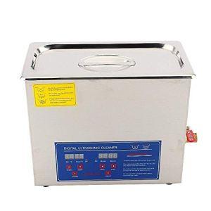 6L Laveuse à ultrasons numérique Machine de nettoyage à ultrasons Appareil de nettoyage à ultrasons numérique Nettoyeur à Ultrasons Professionnel Machine à Laver à Ultrasons, Prise UE 220V