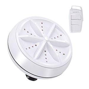 Ablita Nettoyeur à Ultrasons Multifonctionnel Machine à laver à Ultrasons 9cm Rond Portable Mini Outil de Nettoyage Extérieur 3.5 x 2 Pouces