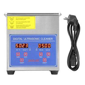 AYNEFY Nettoyeur à ultrasons numérique MH-010S – 2 l – En acier inoxydable – Avec minuterie – Prise européenne – 220 V