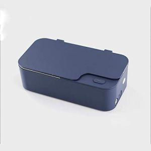 CSDY-Machine De Nettoyage Ultrasonique, 48 Khz Nettoyeur À Ultrasons Portable pour Laver Les Lunettes Multifonction Montre Bijoux Lunettes De Prothèse Boîte De Nettoyage,Bleu