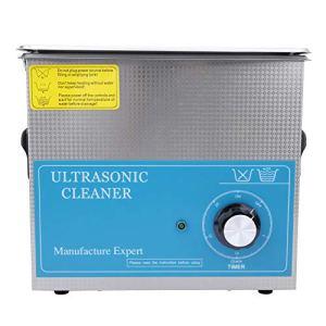 Nettoyeur à ultrasons étanche en acier inoxydable 40KHz 230T 3.2L 9.45×5.51×3.94in Machine à laver pour bijoux(European plug 200-240V)