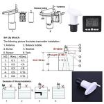 Simlug Compteur de liquide à ultrasons, capteur de compteur de niveau de profondeur de réservoir d'eau à ultrasons avec affichage de la température