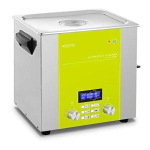 Ulsonix Nettoyeur À Ultrasons Bain Ultrason Bac Sonicateur Cuve Machine Ultrason PROCLEAN 10.0DSP (10 litres, Puiss. Ultrason 320 W, Puiss. Chauffe 310 W, 37 kHz, Minuterie, Degas, Pulse, Sweep, Inox)