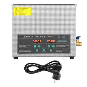 AYNEFY Nettoyeur à ultrasons – 6 l – Double fréquence – En acier inoxydable – Avec prise européenne – 220 V