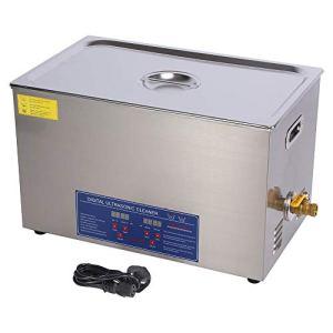 AYNEFY Nettoyeur à ultrasons – Réservoir de nettoyage à ultrasons numérique chauffant en acier inoxydable avec minuterie 220 V 30 l