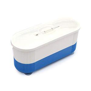 Deliu Mini Nettoyeur de Bijoux à ultrasons Nettoyeur de Lunettes électrique Nettoyeur à ultrasons Bleu
