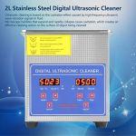 Nettoyeur à ultrasons – 2 l – En acier inoxydable – Avec chauffage et minuterie – 220 V