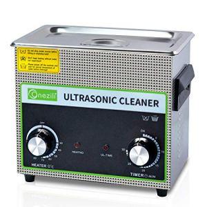 Nettoyeur à ultrasons à panneau numérique professionnel à bouton 3L, panier numérique et minuterie, pour le nettoyage des circuits imprimés, des pièces métalliques, des bijoux, des prothèses dentaires