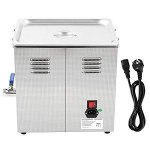 Nettoyeur à ultrasons en acier inoxydable 15L avec minuterie à LED numérique pour pièces métalliques de lunettes de bijoux(Prise européenne 200-240V)