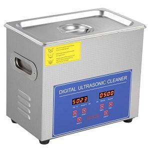Nettoyeur à ultrasons, nettoyeur à ultrasons numérique 2L avec chauffage, rondelle numérique en acier inoxydable, prise UK 220V, pour le nettoyage professionnel des pièces de voiture de bijoux, acier