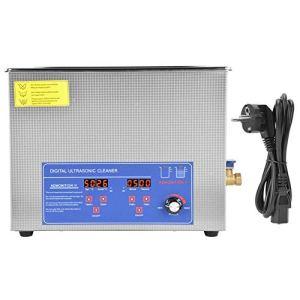 Nettoyeur à Ultrasons, Nettoyeur à Ultrasons RéGlable En TempéRature De Machine à Laver à Ultrasons NuméRique 60AL 15L 40KHz(European Regulations 220V)
