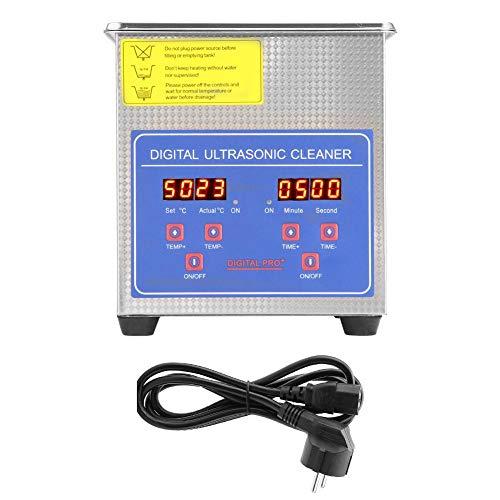 Nettoyeur à ultrasons numérique, dispositif de nettoyage pour nettoyeur à ultrasons avec panier et minuterie numérique 220V pour le nettoyage des lunettes de bijoux