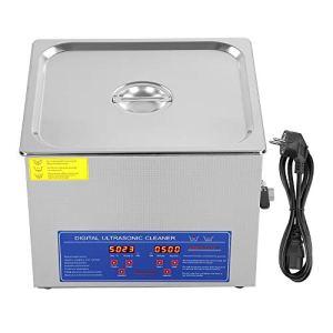 SOULONG 1,3L-30L Nettoyeur à ultrasons numérique Ultrasonic Nettoyeur à ultrasons Couvercle en Acier Inoxydable avec poignée et Pieds en Caoutchouc antidérapants, 15L