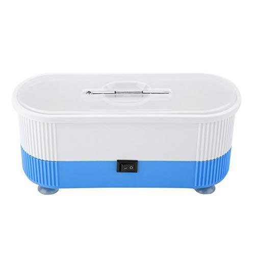 Jiawu Machine de Nettoyage de Lunettes à ultrasons, Nettoyeur de Bijoux à ultrasons ménager équipé d'un Tournevis, Machine Professionnelle pour Nettoyer Les Bijoux de lentilles de Contact(Blue)
