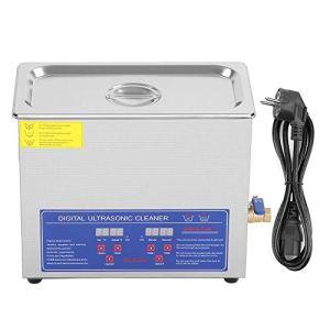 Les-Theresa Nettoyeur à ultrasons – Nettoyeur Ultra Sonique numérique Minuterie de bain Nettoyage de réservoir en acier inoxydable 6L Prise ultrasonique 220V EU