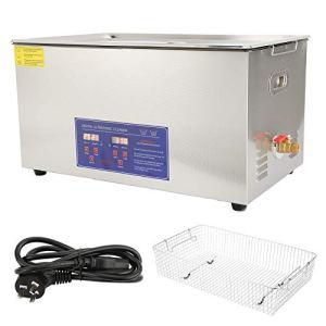 Nettoyeur à ultrasons 22L PS-80A Minuterie de Chauffage de Nettoyage de Bain de réservoir Ultra sonique numérique pour pièces de Monnaie Petites pièces métalliques Carte (AU Plug 22V)