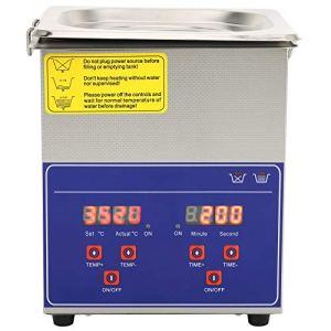 Nettoyeur à Ultrasons 2L Laveuse à Ultrasons Numérique Machine Professionnelle Minuterie de Chauffage en Acier Inoxydable PS-10A(EU Plug 220V)