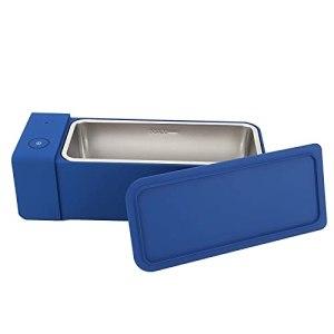 Nettoyeur à Ultrasons 600 Ml 50kHz MK186 Bleu Mini Machine de Nettoyage à Ultrasons Domestique Portable pour le Nettoyage des Lunettes, Bijoux(EU Plug AC220‑240V)