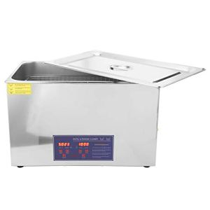 PS-100A 30L Grande Machine à Laver à Ultrasons Nettoyeur à Ultrasons Equipements de Nettoyage Affichage Numérique Synchronisation Chauffage Acier Inoxydable(EU Plug AC 220V)