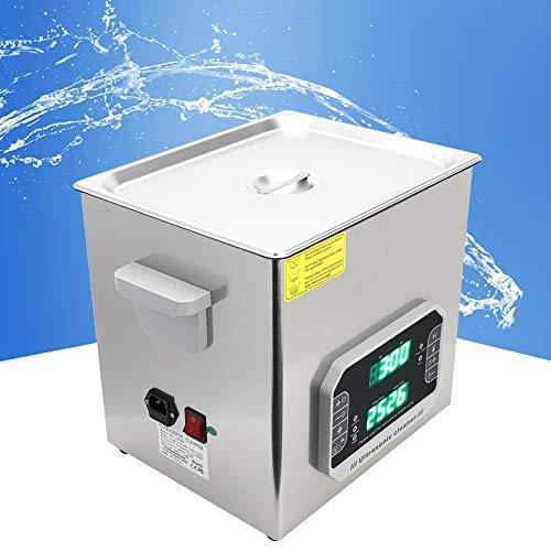 Nettoyant à ultrasons, nettoyeur à ultrasons professionnel à un bouton 1-99MIN Plage de réglage de temps de travail avec acier inoxydable jusqu'à 80 pendant une période de temps.