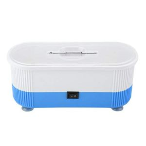 Nettoyeur à Ultrasons, Machine de Nettoyage à Ultrasons électrique, Nettoyeur de Bijoux Sonique Professionnel pour le Nettoyage des Anneaux, des Lunettes, des Montres (bleu/Rose)(Bleu)