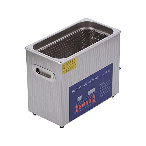 6L Dégazage Nettoyeur à Ultrasons 40kHz/33kHz Affichage Numérique Minuterie Chauffage Nettoyeur à Ultrasons Machine MH-031S(EU Plug AC220V)