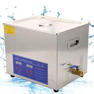 Cerlingwee Nettoyeur à ultrasons 10L, Machine de Nettoyage de Bijoux de capacité 10L pour Le matériel de Nettoyage pour la Maison