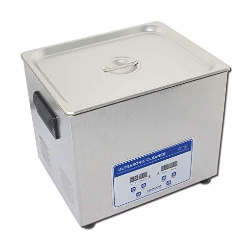 JIUZHOUTONG Nettoyeur professionnel numérique à ultrasons avec minuterie chauffée en acier inoxydable 110 V/220 V 10 l